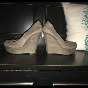Gray wedges only worn a few times.